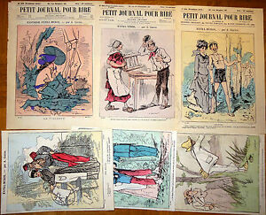 Alfred-GREVIN-Petit-Journal-Pour-Rire-Lithographie-XIXe-Fantaisie-Extra-Muros