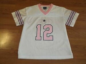 hot sale online 7c218 152a6 Details about Women's Dallas Cowboys Jersey #12 Size 4/6 Roger Staubach  Style Number 12