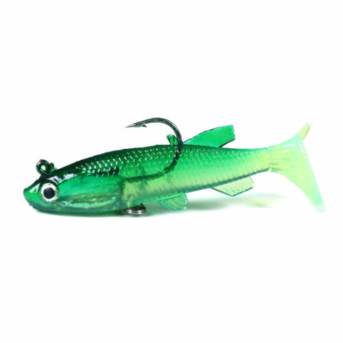 5PCS//Pack Soft Rubber Ice Fishing Lure 7.5cm//12.5g Fish Bait Bass Paddle Tail