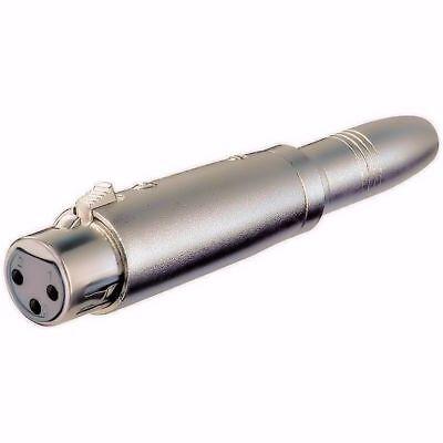 """XLR Female to 1//4/"""" Female Mono Microphone Mic Adapter"""