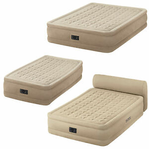 Intex ultra plush airbed with fibre tech and built in pump single or queen size ebay - Matelas intex ultra plush ...