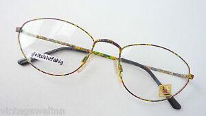 Brillenfassungen Kleidung & Accessoires Gestell Brille Flippiger Farbmix Bunt Blickfang Von See You Metall Frauen Size M PüNktliches Timing