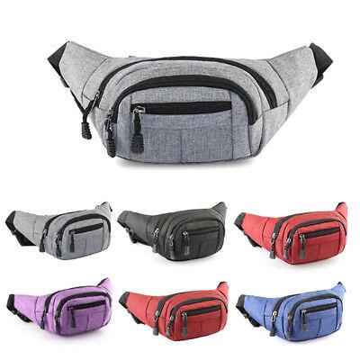 Utility Cycling Waist Fanny Pack Belt Bag Travel Purse Mens Sports Chest Bag UK