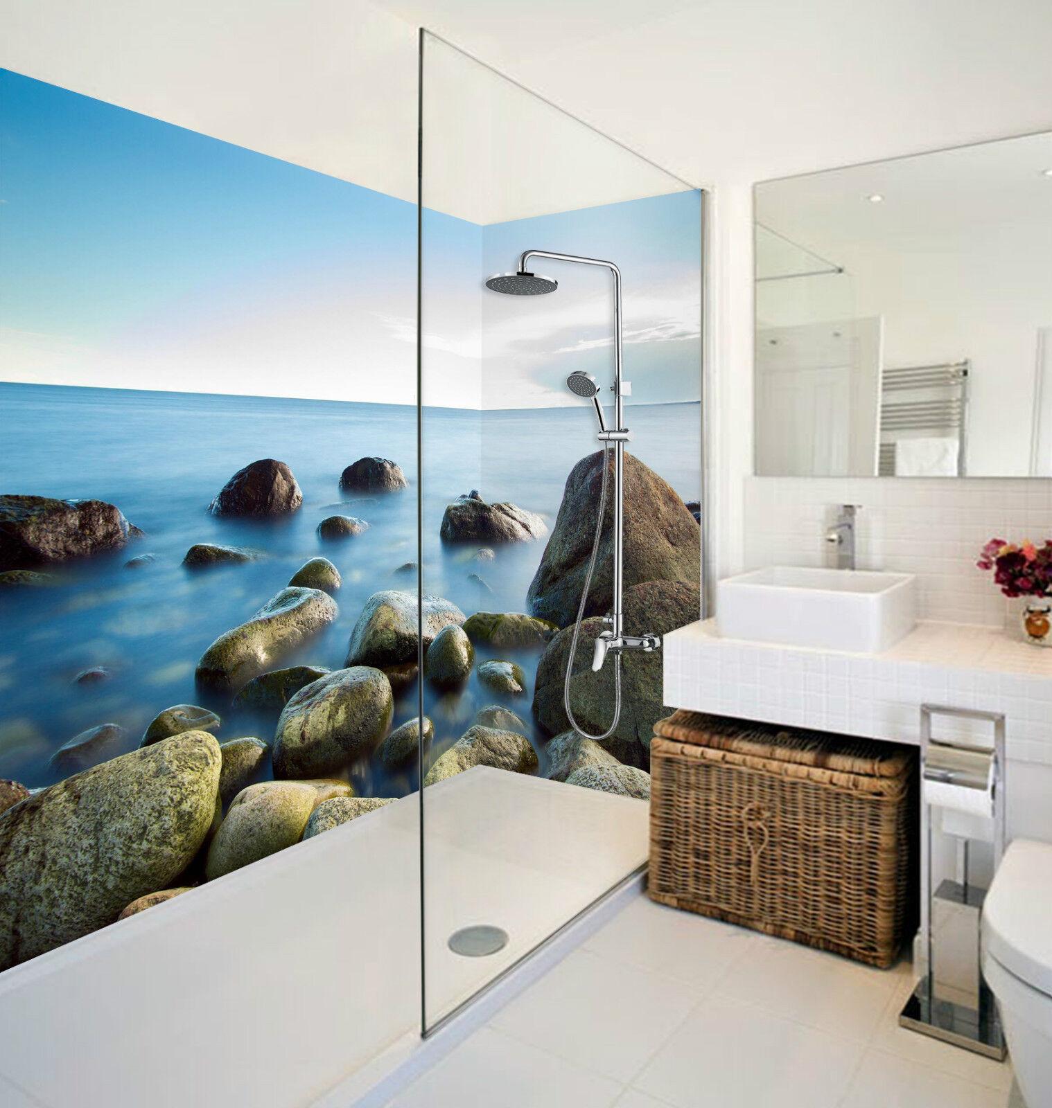 3D Vast Sea Stones 074 WallPaper Bathroom Print Decal Wall Deco AJ WALLPAPER CA