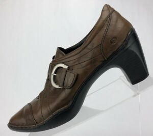 Josef-Seibel-Pumps-Brown-Leather-Casual-Monk-Strap-Women-039-s-Size-41-US-10-10-5