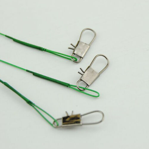 20Pcs//lot Fishing Lead Line Leader Wire Sleeve Stainless Steel Swivels New