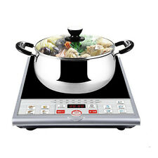 Portable 1500W Induction Cooker Electric Cooktop Burner Countertop Key Pad