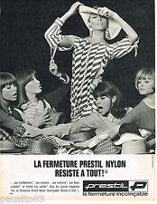 PUBLICITE ADVERTISING 055  1966  PRESTIL   fermetures éclair