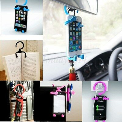 Flexible Hanging Human Shape Grip Car Stand Holder Cell Phone Multifunction