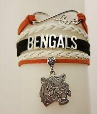 Cincinnati Bengals Football Charm Dangle Women's Fashion Multi Strand Bracelet