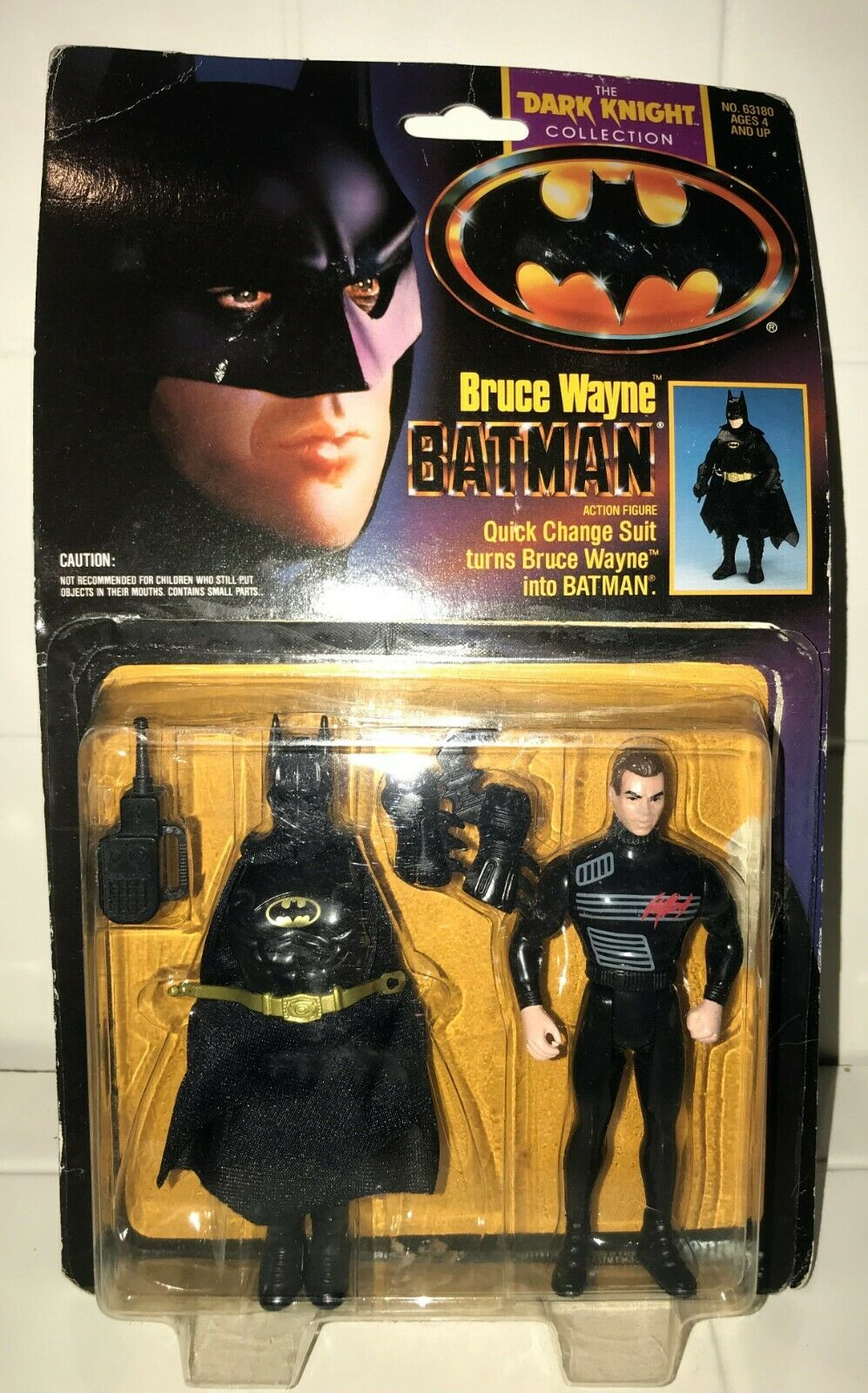 Bruce Wayne BATMAN - The Dark Knight Collection - Kenner - Loose On Card