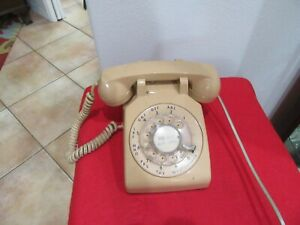 Beige ITT Bell System Western Electric Rotary Desk Phone w/ Cord vintage works?