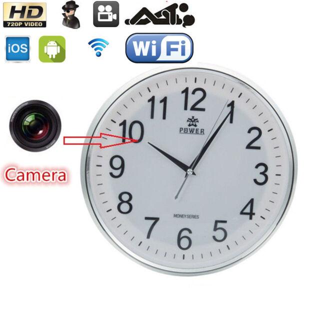 Wireless 1280*720 WiFi HD Wall Clock Video P2P Camera DVR Digital Video Recorder