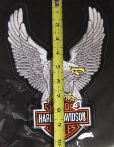 Harley Davidson Up Wing Eagle Silver Patch Large Ships International