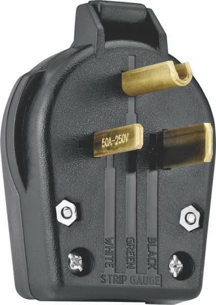 Black Ground Angle 3wire Plug,No S42-SP Cooper Wiring Devices Inc
