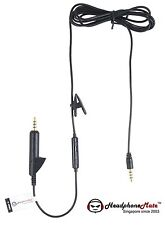 HeadphoneMate Inline Remote Mic Cable for Bose QC 15 2 & iPhone, iPad and iPod