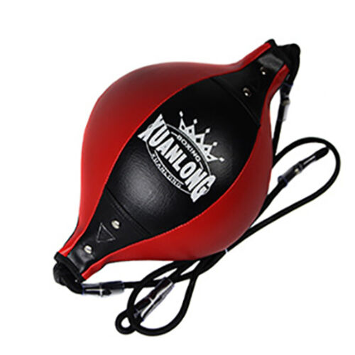 Floor to Ceiling Speed Ball Swivel Leather Double End Dodge MMA Boxing Punch Bag