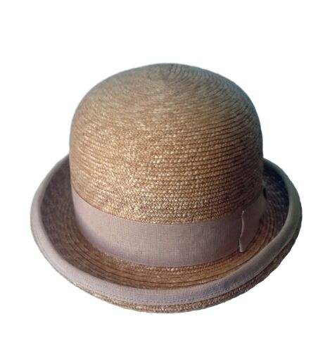 bowler straw hat Cappello a bombetta maglina naturale di paglia