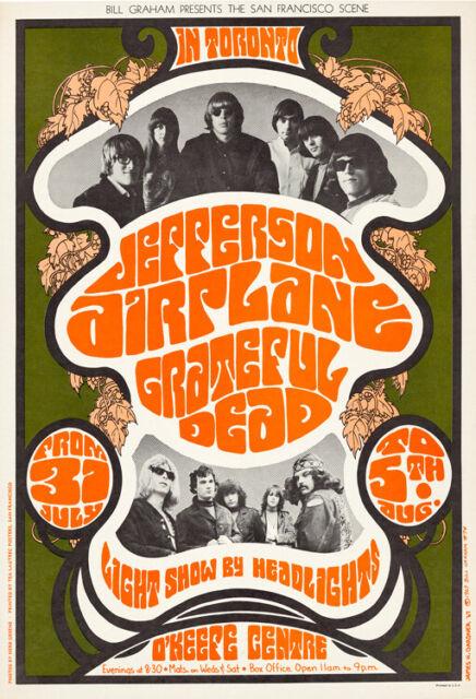 Art print poster Grateful Dead Quicksilver Messenger Concert Poster Replica