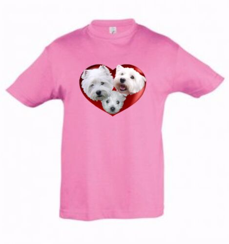West Highland Terrier Kids Dog-Themed Tshirt Childrens Tee Xmas Gift Birthday