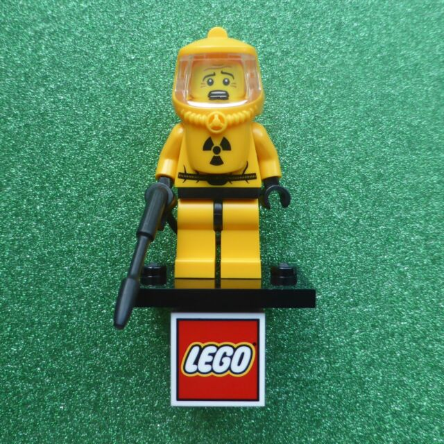 Genuine Lego Hazmat Guy Minifigure (Used - Series 4 - COL061)