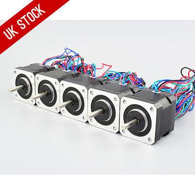 5PCS 45Ncm Nema 17 Stepper Motor 2A 4-wire 1m Cable for DIY 3D Printer CNC  Robot 705701841425 | eBay