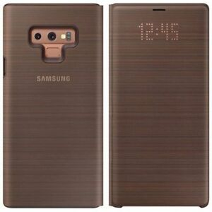 Samsung-Led-View-Cover-Etui-EF-NN960PAEGWW-pour-Galaxy-Note-9-Etui-COQUE-Marron