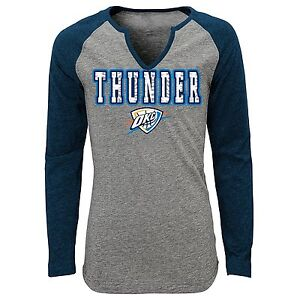 reputable site c6f42 c80f5 Details about (Youth Girls LARGE Age 14) NBA OKC Oklahoma City Thunder  Triblend Long Shirt