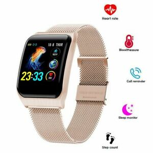 Bluetooth Smartwatch Pulsuhr Blutdruck FitnessTracker Uhr für iPhone 11 Huawei