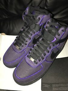 9f6d0fe5d03ff3 Genuine Nike Air Force 1 High 07 Black Court Purple Trainers