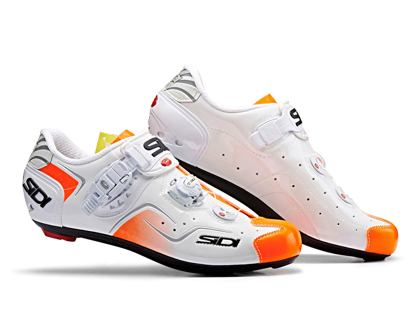SIDI KAOS Road Cycling shoes  - White orange Fluo  preferential