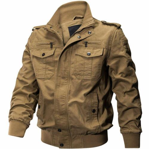 Mens MA-1 Bomber Jacket Military Cargo Jacket Pilot Flight Coats jackets For Man
