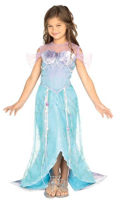 Beautiful Deluxe Blue Mermaid Princess Ariel Dress-up Costume Todd S M, Rubies