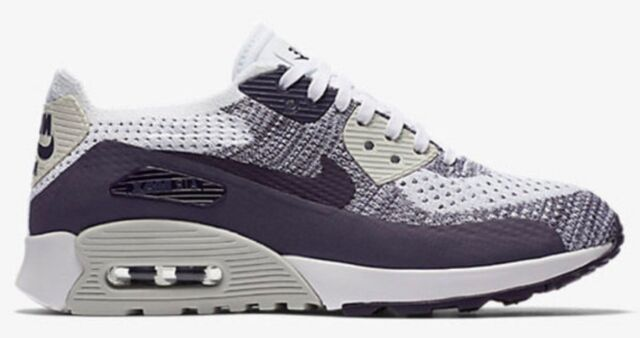725b4dc342467 Nike Air Max 90 Ultra 2.0 Flyknit UK 4.5 Bnib White Dark Raisin 881109 102  ladie