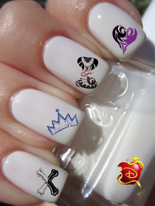 Disney Descendants ongles manucure nail art water decal sticker