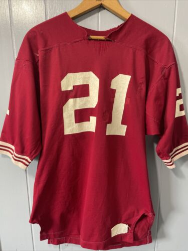 VTG 70's Russell Athletic Red Football Jersey #21… - image 1