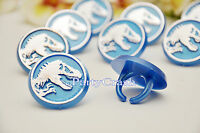 12 Jurassic World Dinosour Cake Cupcake Rings Birthday Party Favors Toppers
