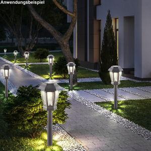 Terrasse Anthrazit 8er set led solar außen steh len anthrazit terrassen leuchten