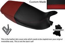 BLACK STITCH CUSTOM MADE FITS HONDA CRM 250 R 89-92 DUAL LEATHER SEAT COVER