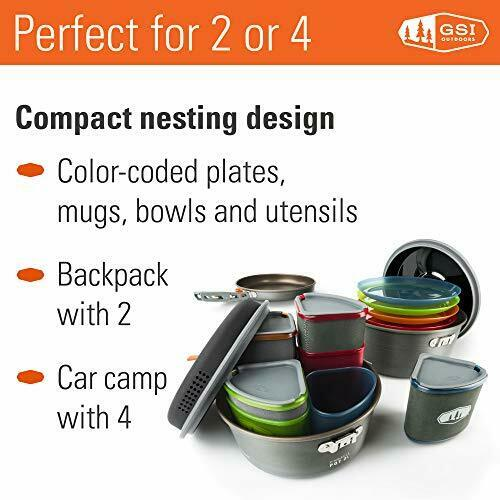 GSI Outdoors Pinnacle Camper Nesting Cook Set Superior Backcountry Cookware 1985 for sale online