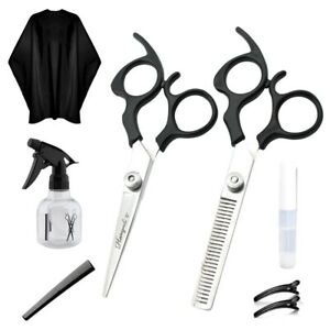 COMPLETE-DEAL-BARBER-SALON-HAIR-CUTTING-SHEARS-APRON-CLIPS-COMB-amp-Spray-Bottle