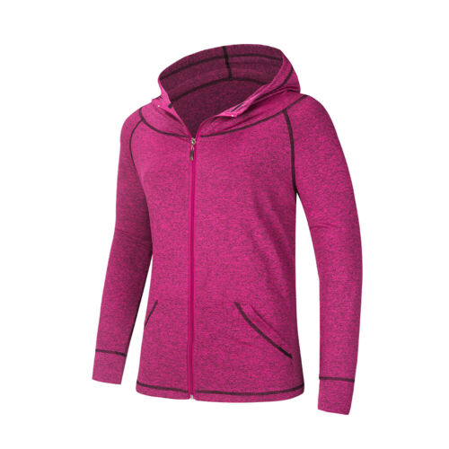 Womens Fitness Athletic Travel Sport Jacket Zip Yoga Hoodie Run Sweasuits Cloth