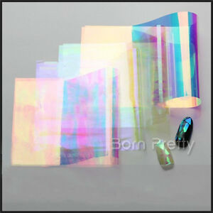 Details about Holographic Laser Nail Art Foils Wraps Transfer Stickers  Decals Glass Paper