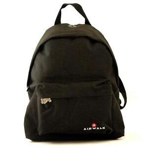 Image is loading Airwalk-Backpack-Black-aww-0007 d0489fd1da