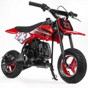 51cc-2-Stroke-Gas-Power-Mini-Pocket-Dirt-Bike-Dirt-Off-Road-Motorcycle-Red