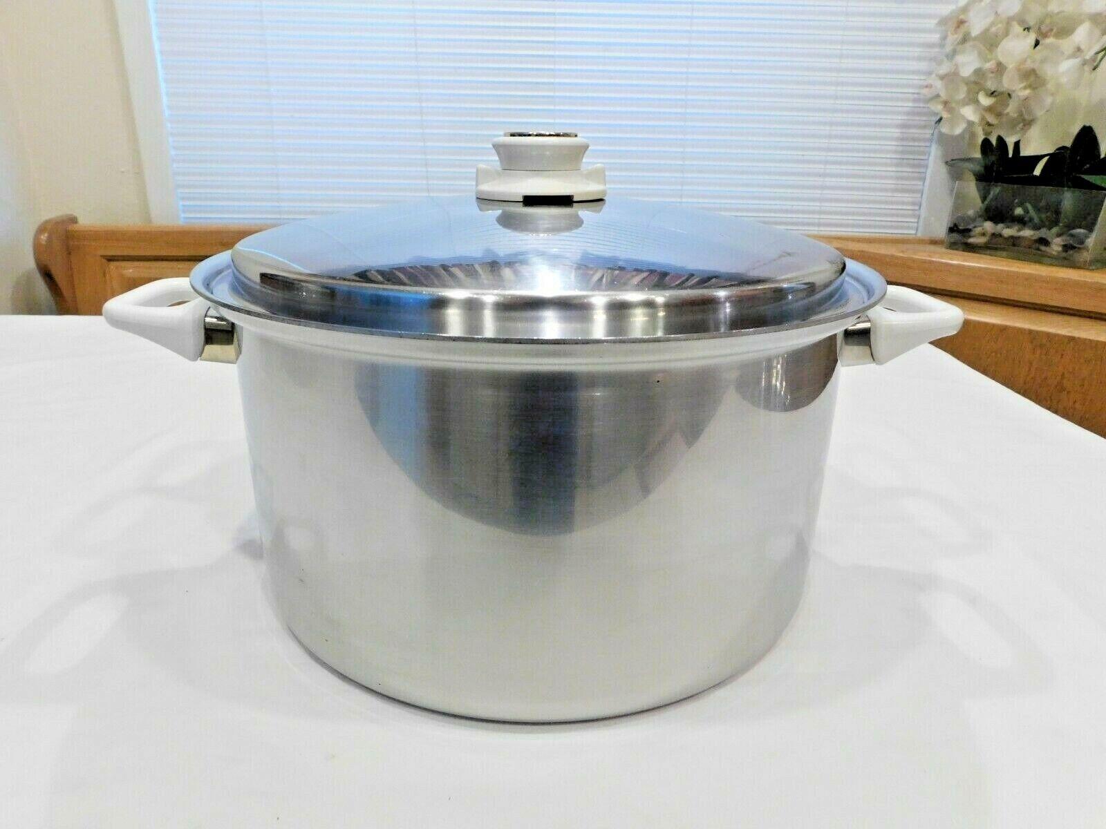 HEALTH CRAFT 12 Qt Faitout 5 plis nicromium or classique WATERLESS Cookware