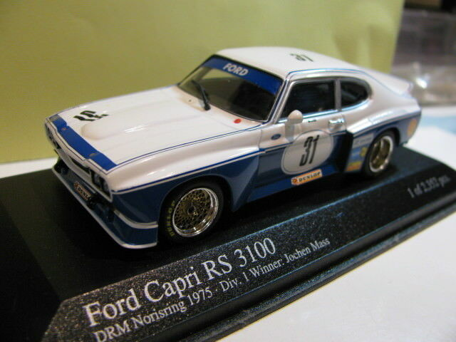 1 43 MINICHAMPS FORD CAPRI RS 3100 DRM 1975 VAINQUEUR Diecast