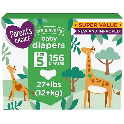 Parent S Choice Dry And Gentle Baby Diapers Size 5 156 Count Ebay