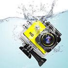 SJ4000 12MP 1080P Sports Car Cam Full HD DV Action Waterproof 30M Camera Yellow