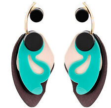MARNI H&M Green Irregularity Pendant Earrings